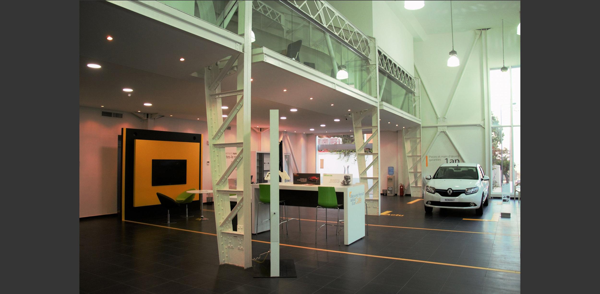intérieur Showroom automobile à Alger, Atelier Messaoudi architecture aménagement et design. Bureau d'étude Algérie.