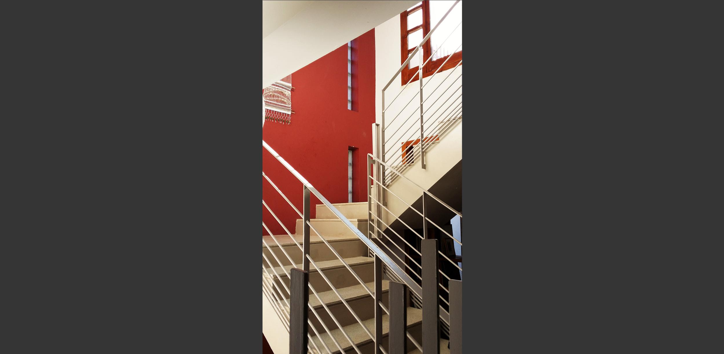 Escalier Maison à quatre patios Kolea, Atelier Messaoudi architecture aménagement et design. Bureau d'étude Algérie.