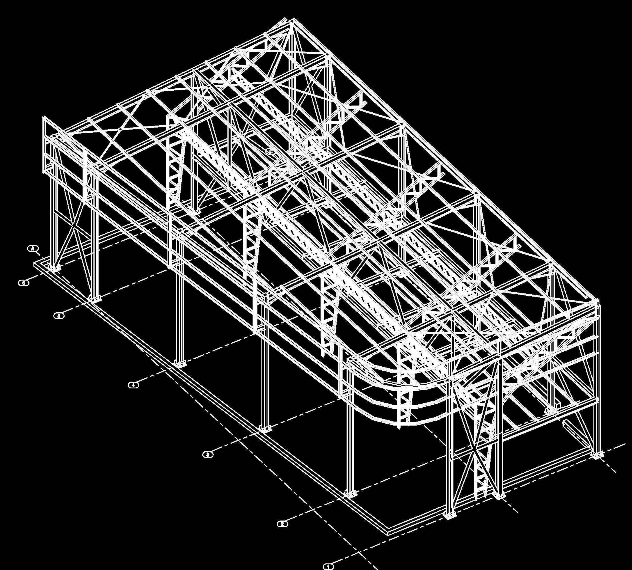 Axonométrie de la structure.