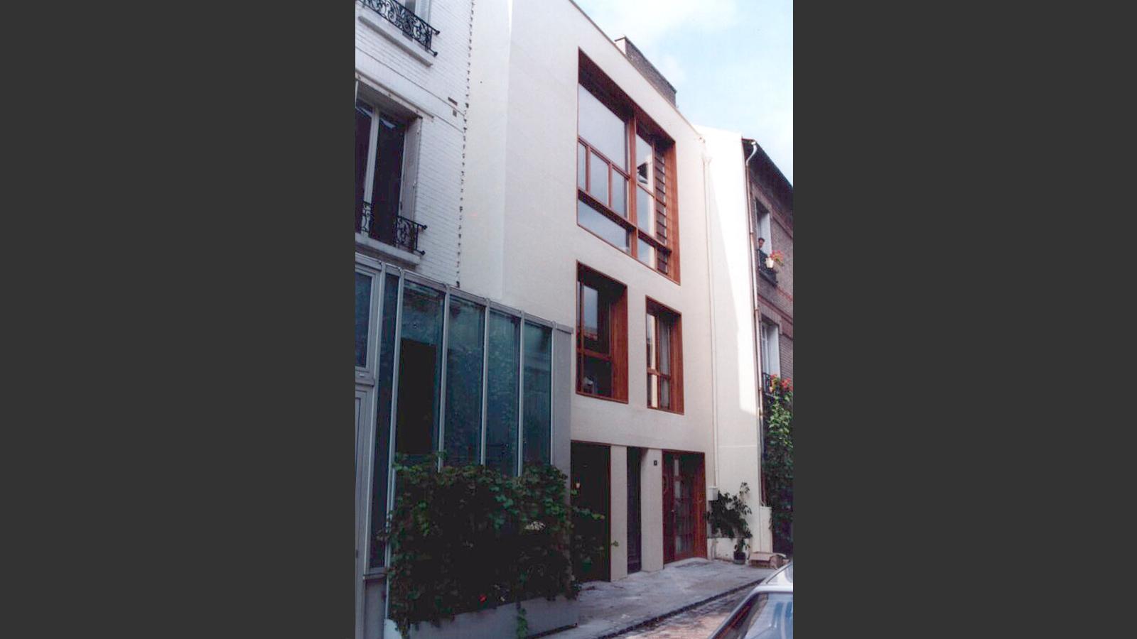 Maison de ville Paris 15 France. Atelier Messaoudi architecture aménagement et design. Bureau d'étude Algérie.