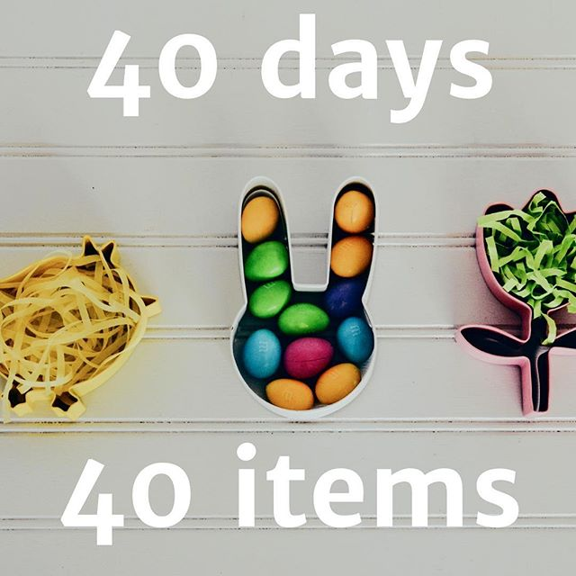 Have you heard of this challenge? Instead of giving up something for lent, why not try the #40days40items challenge? Each day of lent remove something from your home you no longer want, need or wear and place it in a bag. At the end of #lent, donate these items to a charity shop or homeless shelter. They will be shared with those who really need them. Starts today. Will you join?  #40days40itemschallenge #lessismore #minimalism #declutter #declutteryourlife #decluttering #declutteredhome #sparkjoy #tidyingup #easter #charity #donate #clutterfree #clutterfreeliving #clutterfreewithkids #cleartheclutter #declutterlikeamother #decluttertips