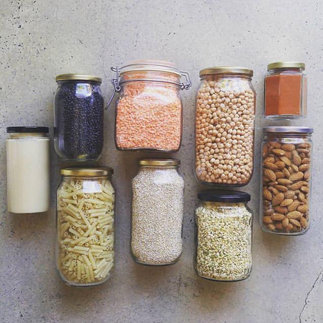 Reusing jars is not only a great hack to organise your pantry, but it's also good for the environment 🌍 check my new campaign @space.sorted for more #ecoliving ideas. 📷 looking for the author of this great pic... #zerowaste #zerowastelifestyle #reuse #packagefree #recycle #upcycle #noplastic #zerowastehome #sustainableliving #ecoconscious #ecolifestyle #ecoconscious