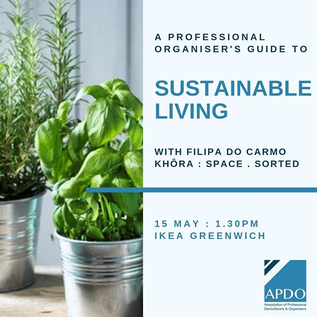 Tomorrow I will be at #IKEAGreenwich for a little chat about how being organised can support you in leading a more sustainable lifestyle.  Joining me from @apdo_uk  @organiseurhouse with clever storage solutions @ideaforyourspace on meal planning @sortmyspaceuk sorting your bedroom & closet  Still a few tickets left if you would like to join: https://events.myikeafamily.com/Event/Details/1350  #IKEAGreenwich #zerowaste #reuse #zerowastehome #zerowasteliving #zerowastelifestyle #waste #plasticfree #noplastic #saynotoplastic #plasticpollution #ecoconscious #consciousconsumer #savetheplanet #sustainableliving #sustainability #bethechange #bethechangeyouwanttosee #purposedriven #ecolifestyle #ecofriendlyliving #ecoconscious #ikeahack #upcycle #recycle #professionalorganiser #organiseyourhome #organisation #declutter