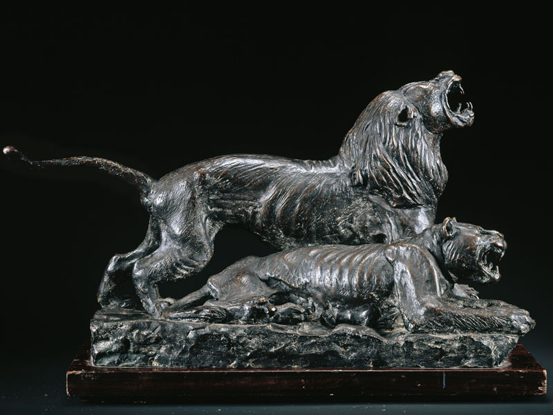 LION AND LIONESS BRONZE, 52x29x26 CM – EDITION: 12 NUMBERED COPIES