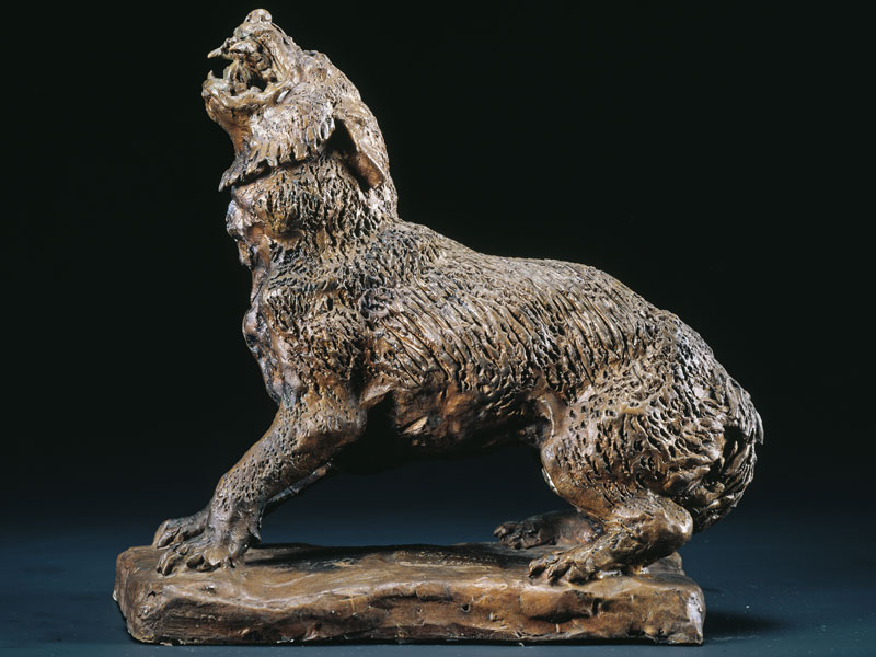 SIBERIAN WOLF BRONZE, 26x20x11 CM – EDITION: 12 NUMBERED COPIES