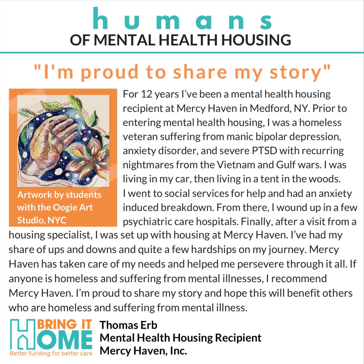 Humans of Mental Health Housing — Bring It Home