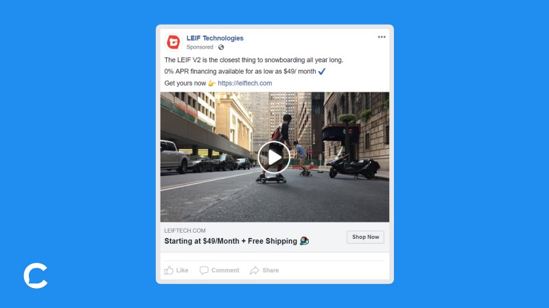 Messenger Ads:     delivers a coupon code in Messenger to website visitors who did not purchase