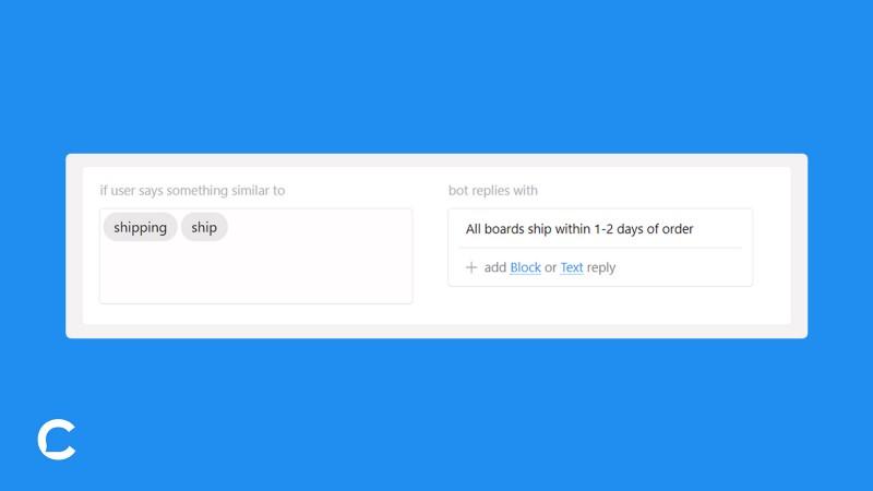 AI Tab:    uses phrases & keywords to automate FAQ responses
