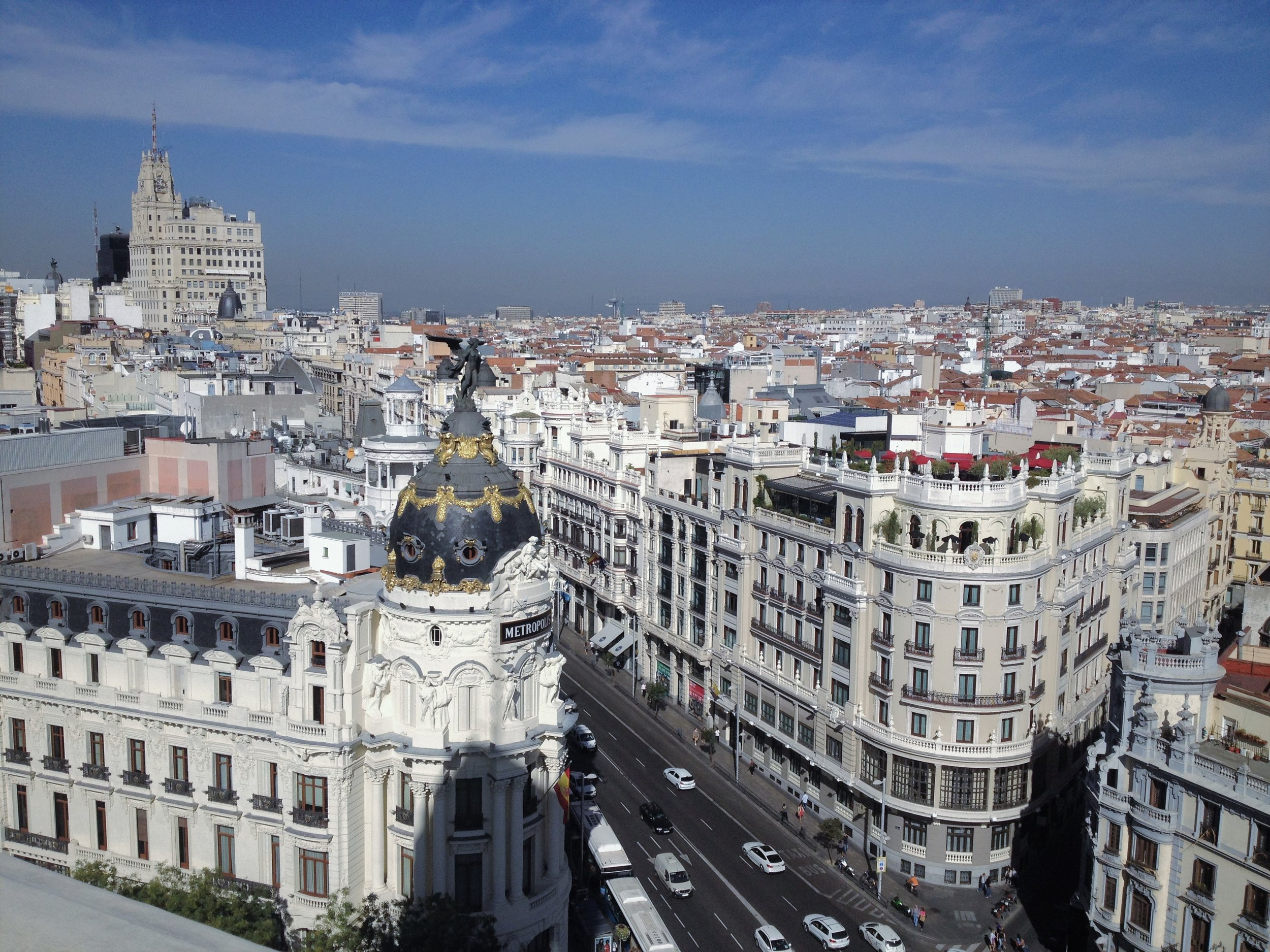 Skyline from the top of Círculo de Bellas Artes, Madrid