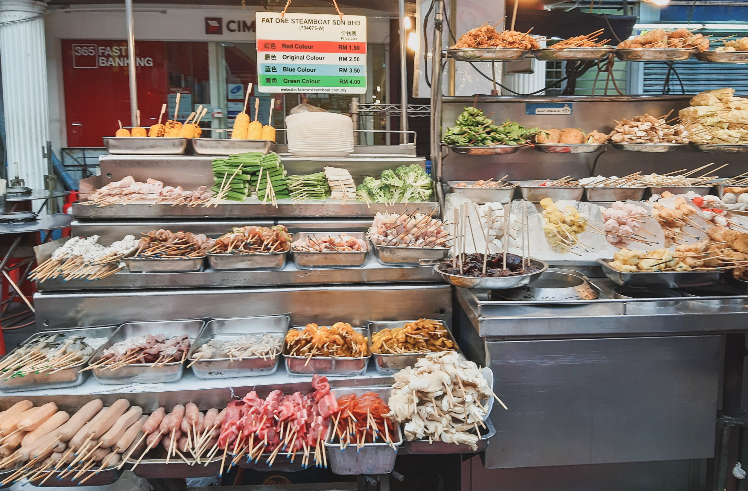 Street food stall in Chinatown
