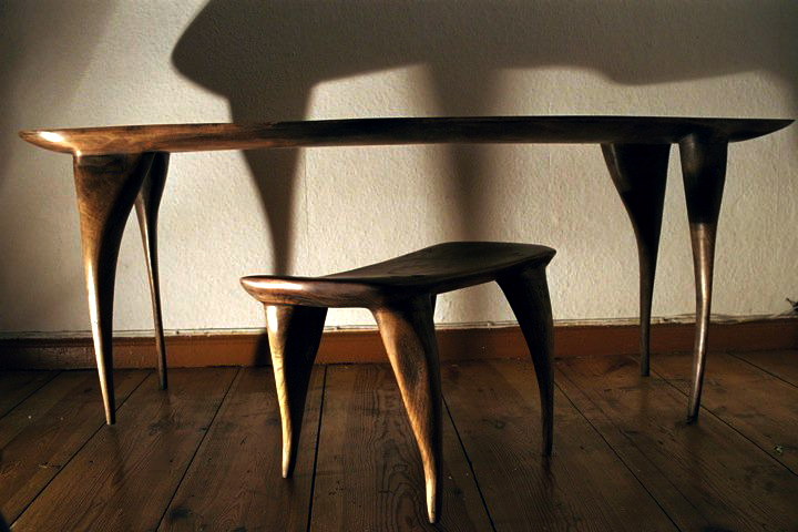 Telephone table (Oak) Berlin. 2002