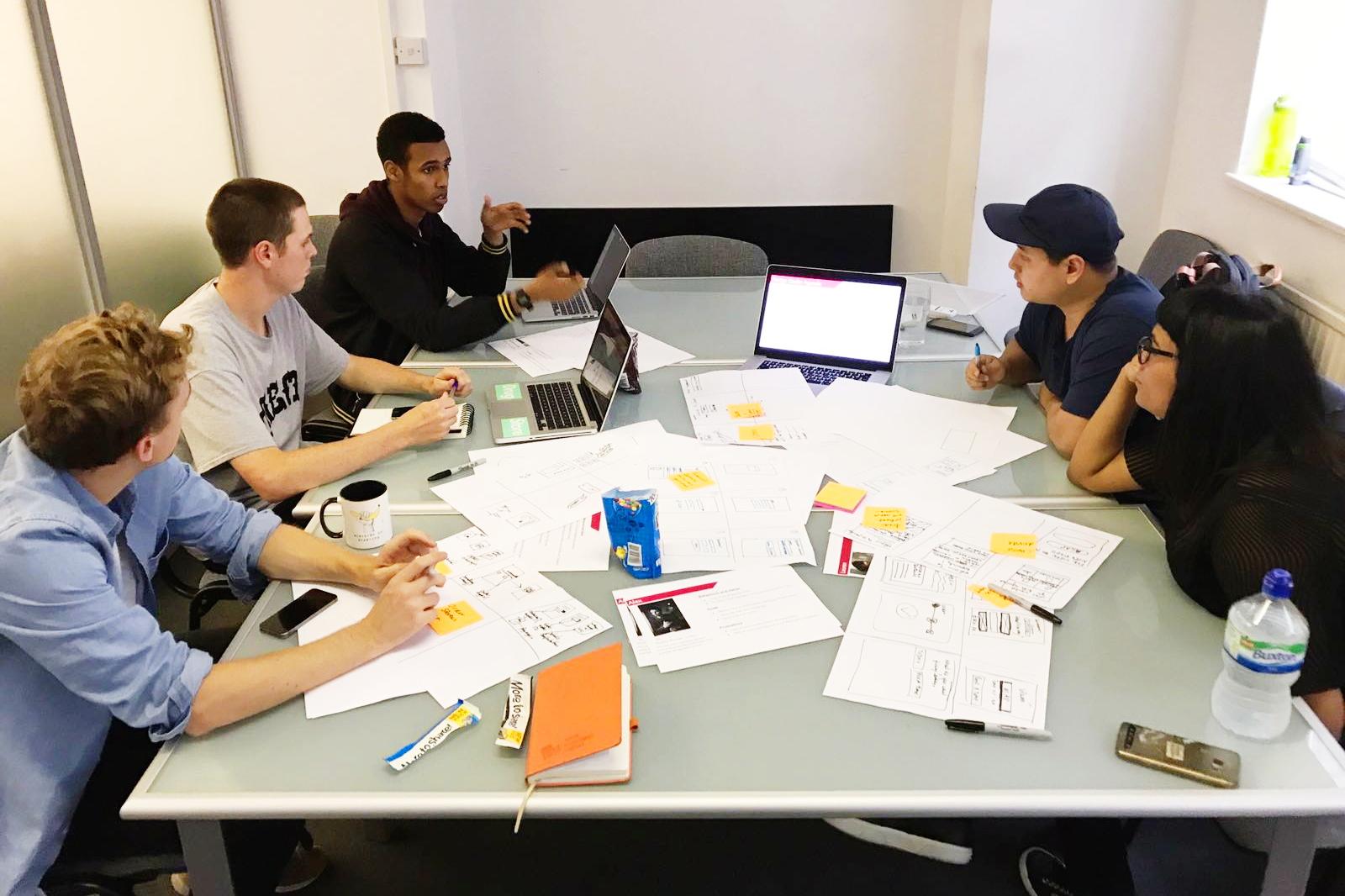 Design Studio with the Repairly team.