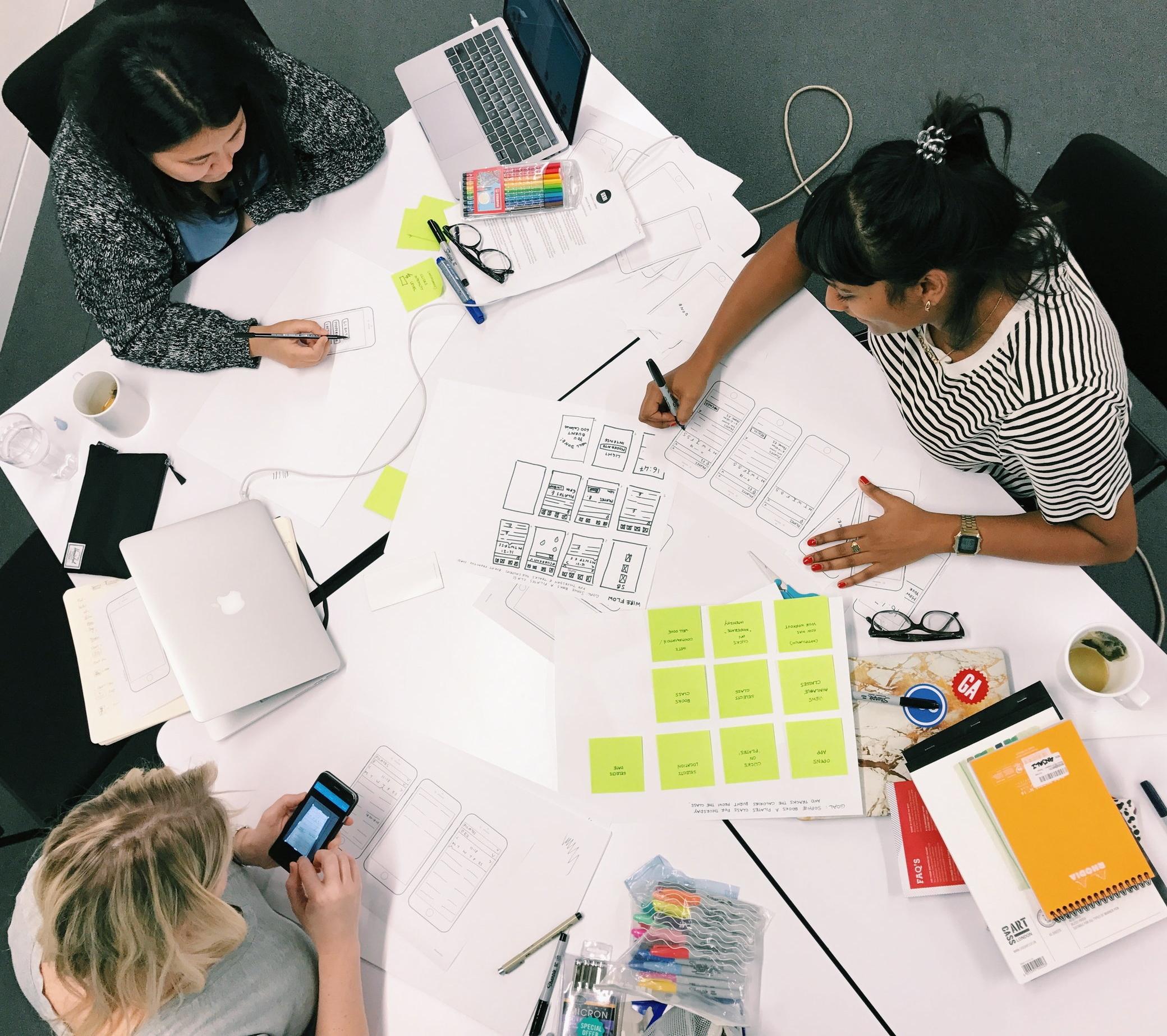 Design Studio. Team (L - R: Claire Donohue, Victoria Klotz and Anjali D'Souza)