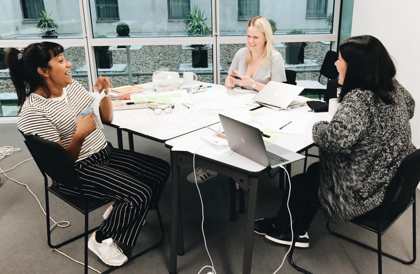 Team (L-R: Anjali D'Souza, Claire Donohue and Victoria Klotz)