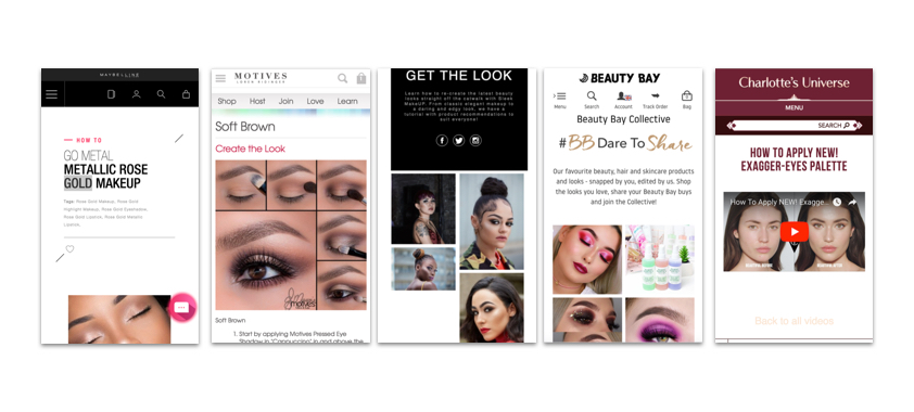 Competitive/Comparative Analysis of other beauty brands that re-create a look.