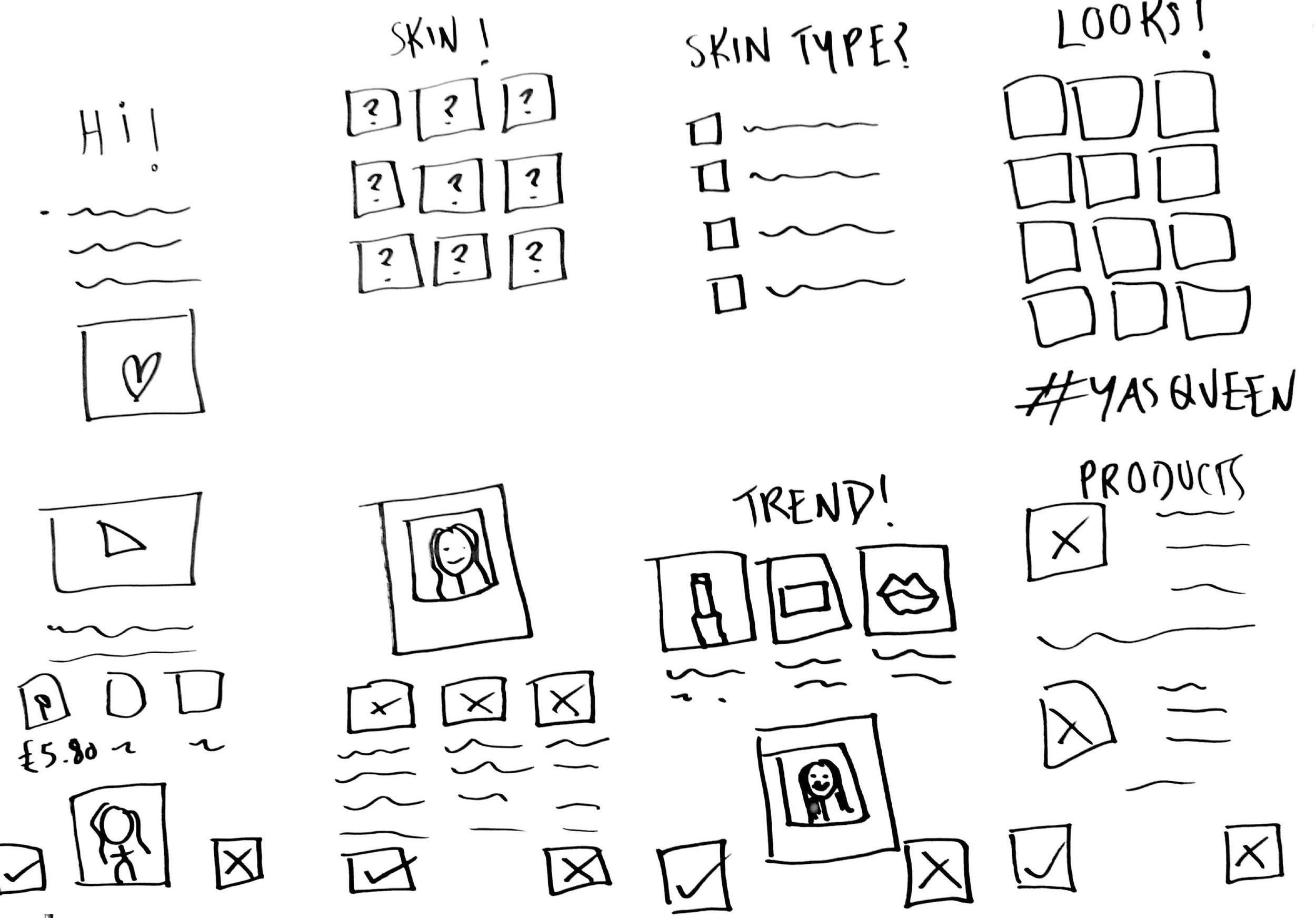 Sketches from Design Studio