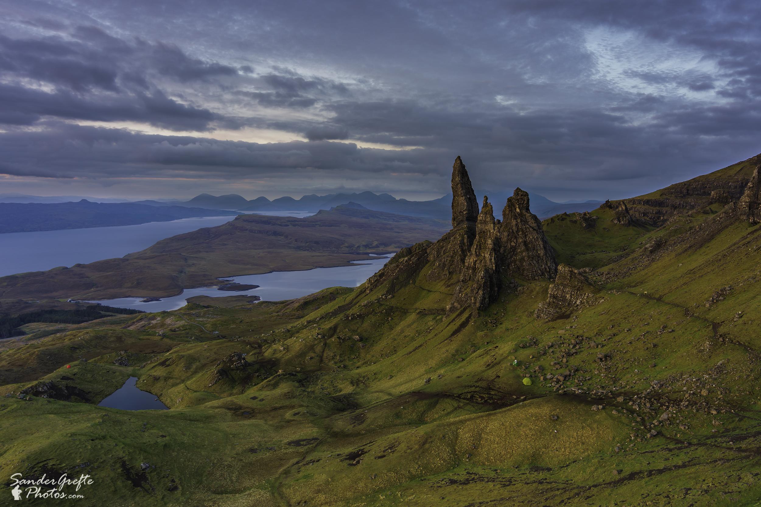 Prachtig uitzicht op de Old Man of Storr (Nikon D7200, 18mm, iso 100, f11, 1,3s)