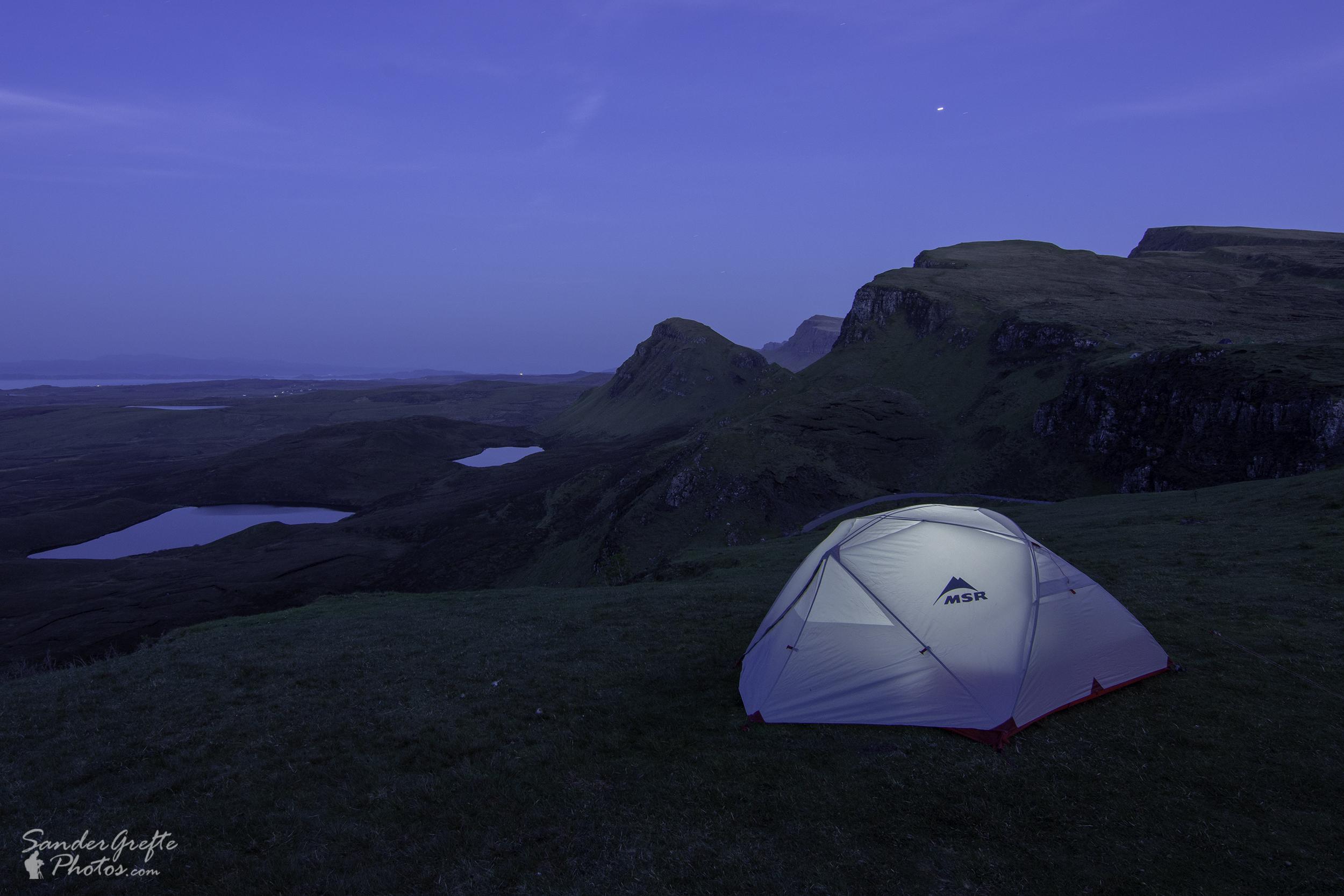 Overnachten bij Quiraing (Nikon D7200, 14mm, iso 200, f11, 64s)