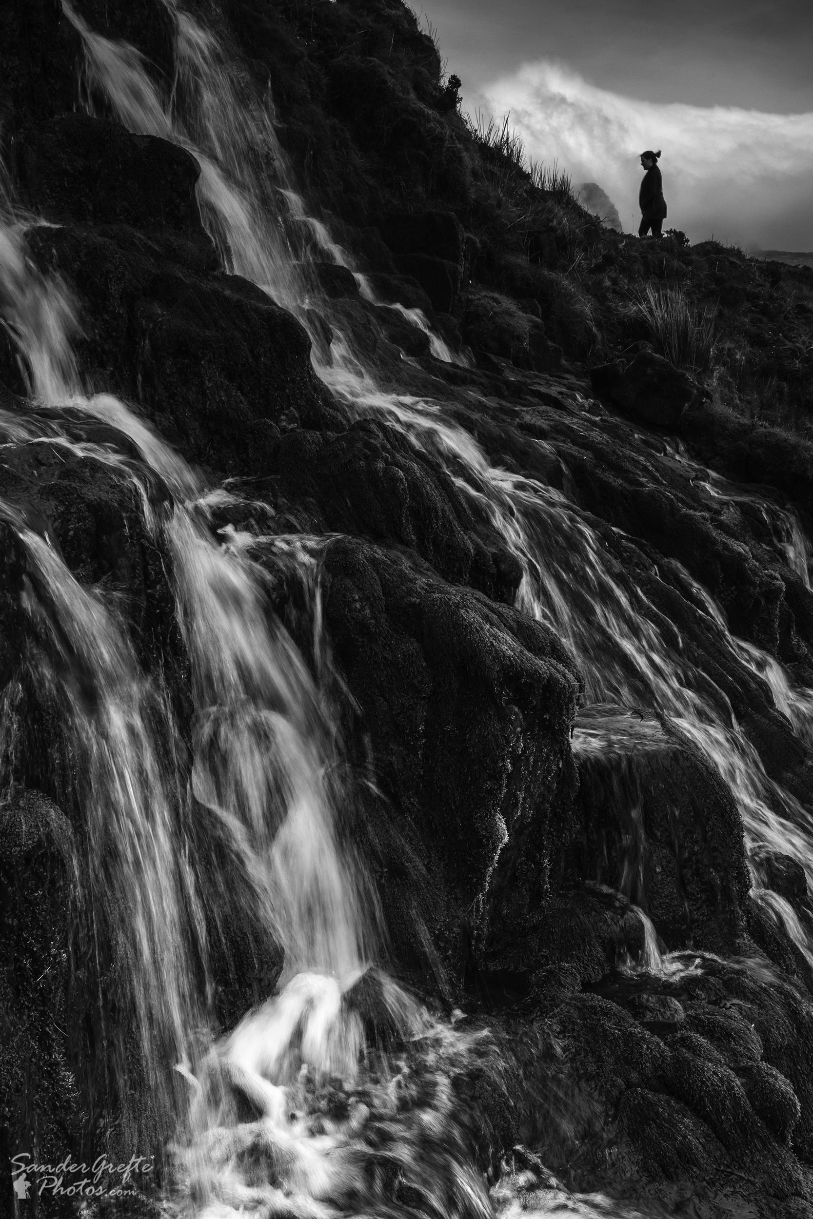 De toerist bij de Bride's Veils (Nikon D7200, 22mm, iso 100, f16, 1/20s)