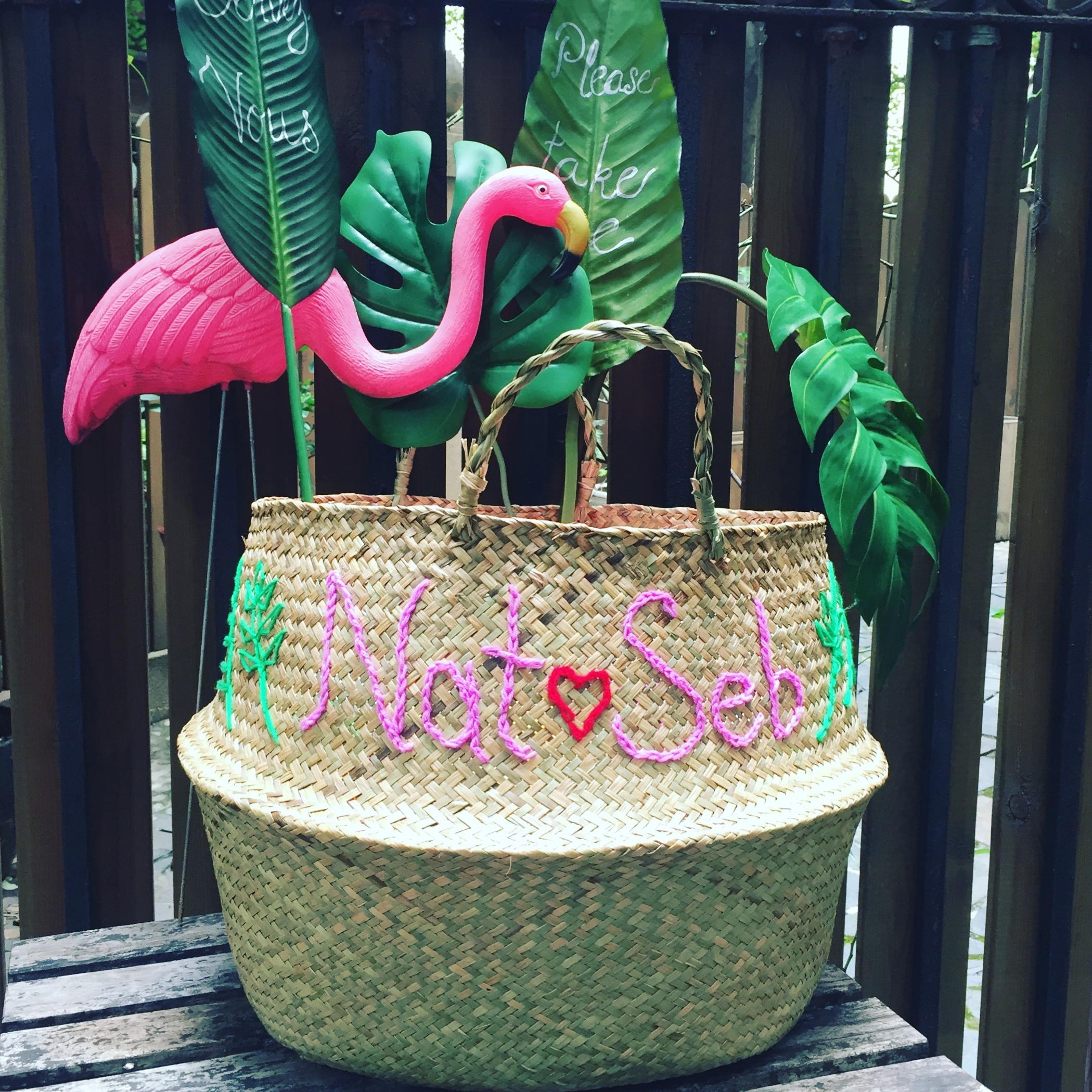 Embroidered Basket -