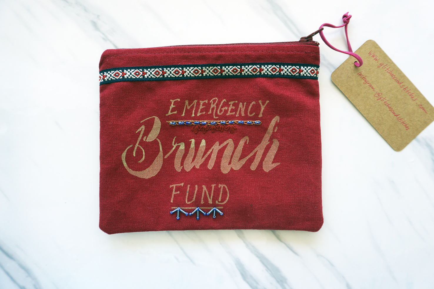 Brunch Fund - Red: 100% Cotton
