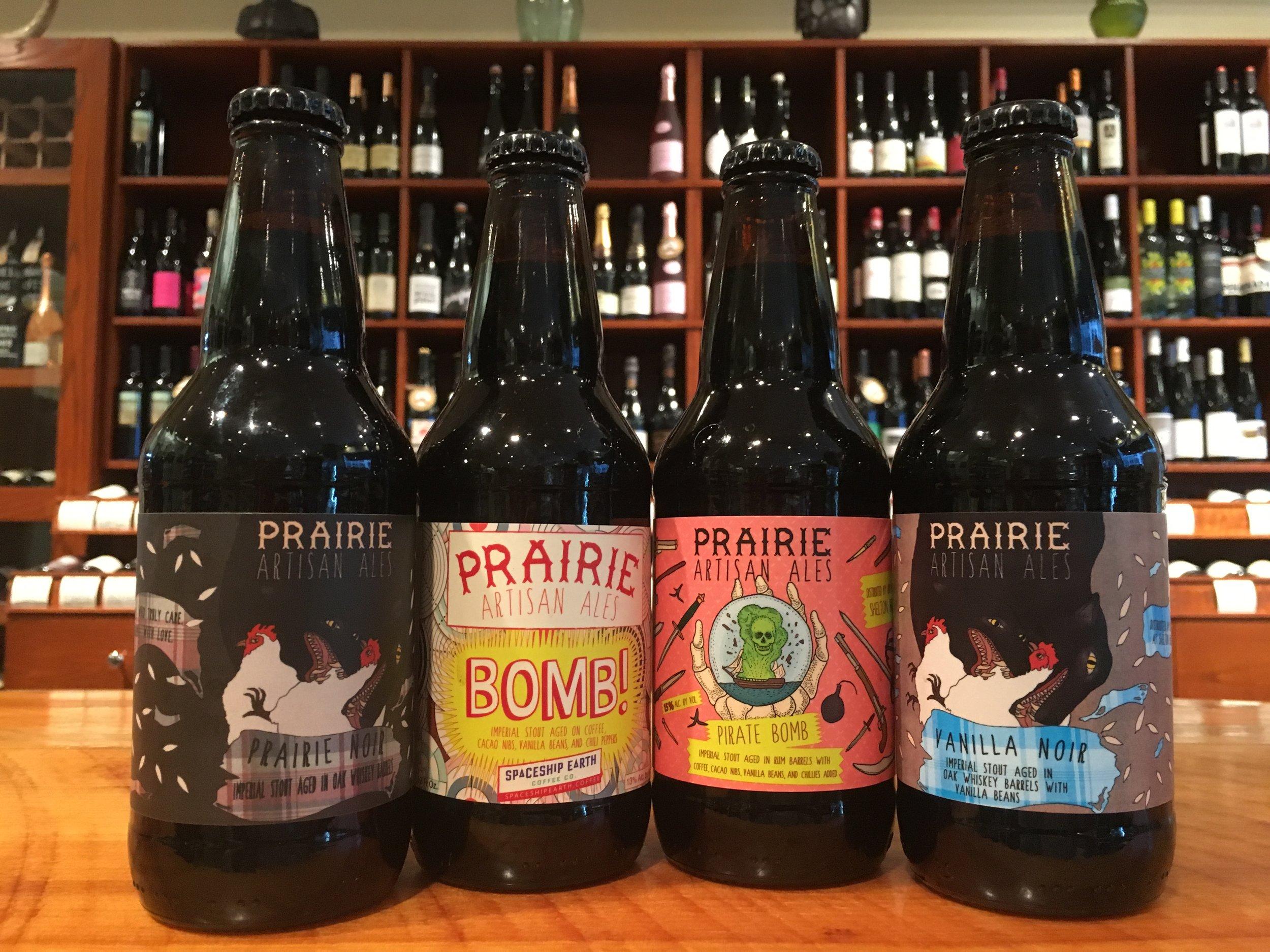 From left: Prairie Noir, Prairie Bomb!, Pirate Bomb!, Vanilla Noir