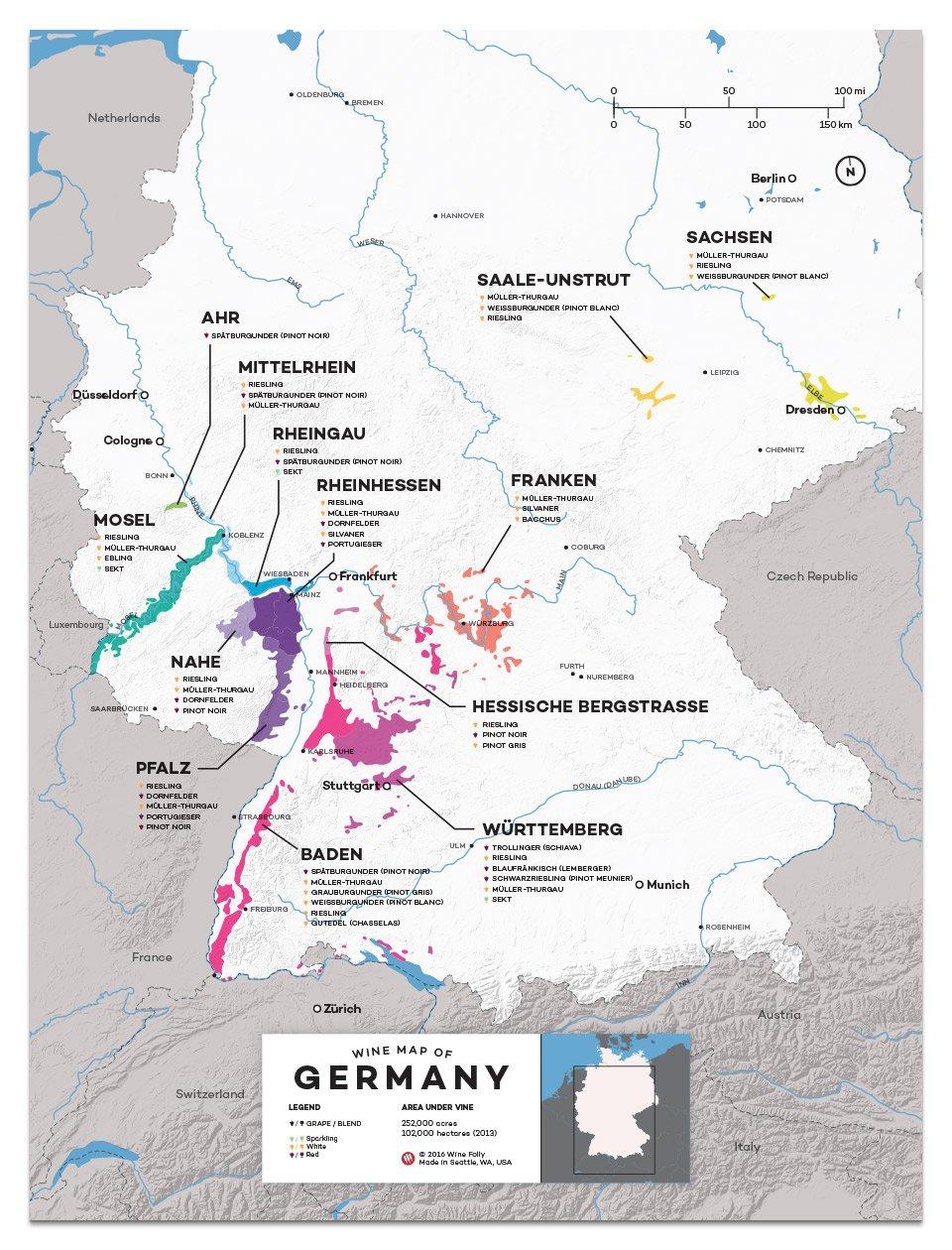 An Overview of German Wine Regions