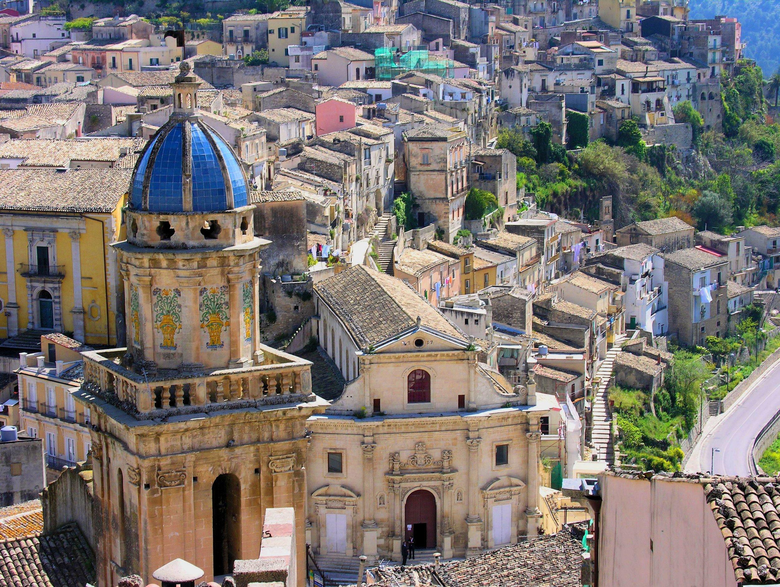 The city of Vittoria, Sicily.