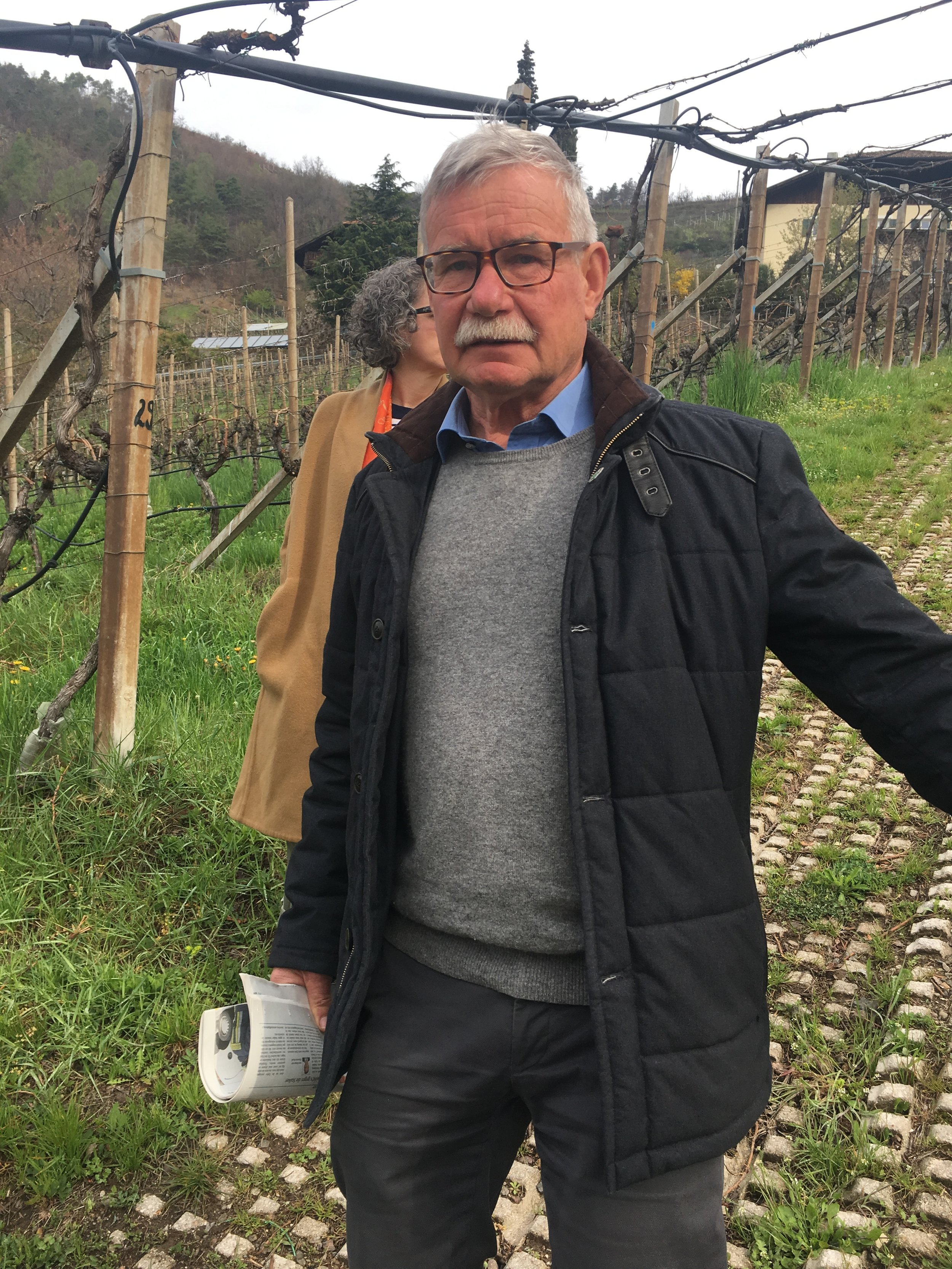 The farmer at Kleinstein, grower of amazing Gewurztraminer