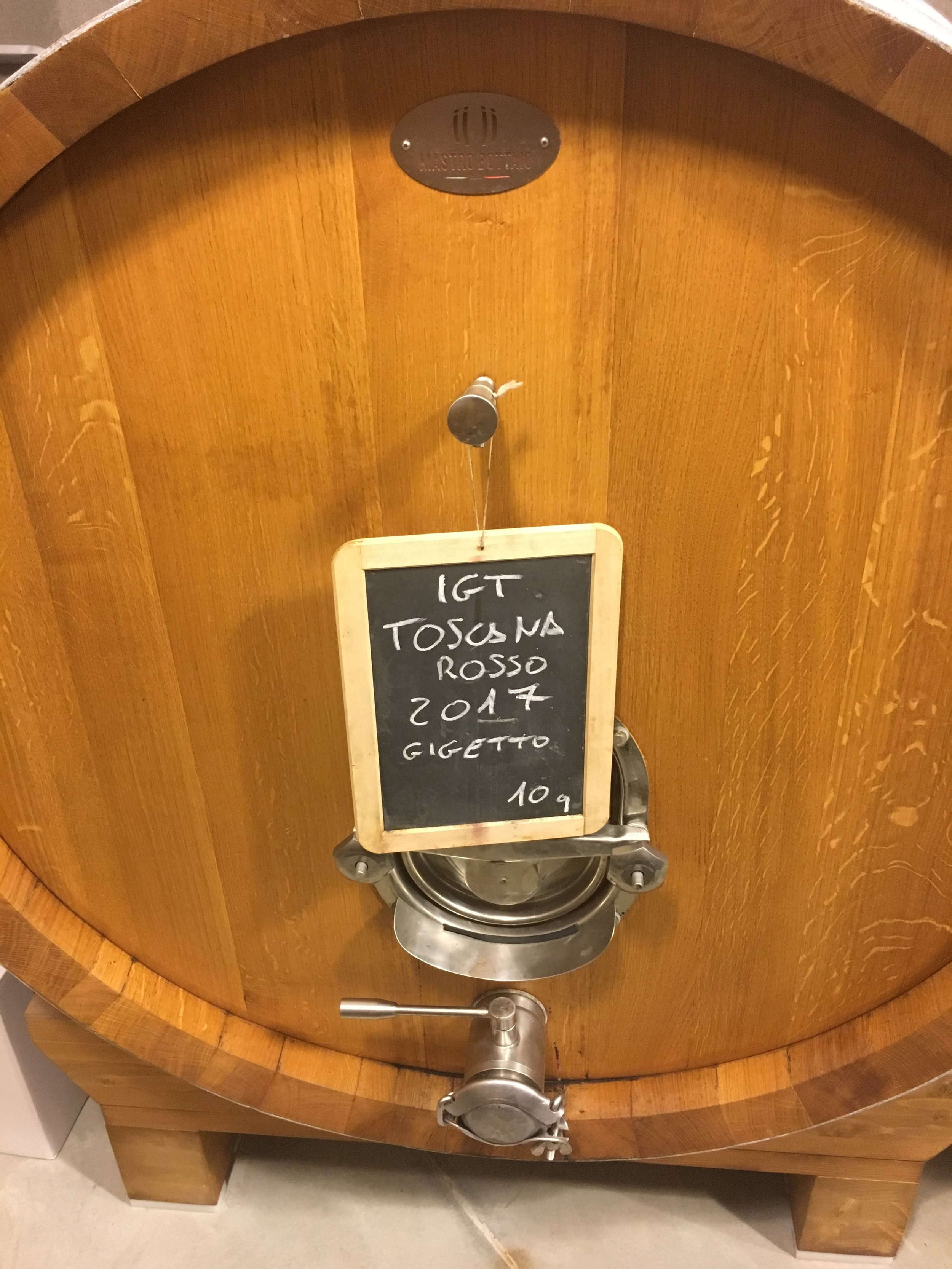 The 2017 of Gigetto still in barrel.