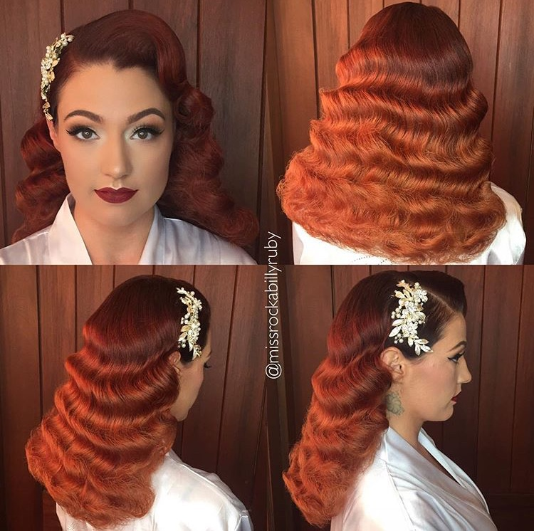 DAWN - This season Dawn hopes to see more vintage, yet timeless formal styles - like those of @missrockabillyruby. She believes perfectly set waves add just the right amount of glamour to any bridal look.