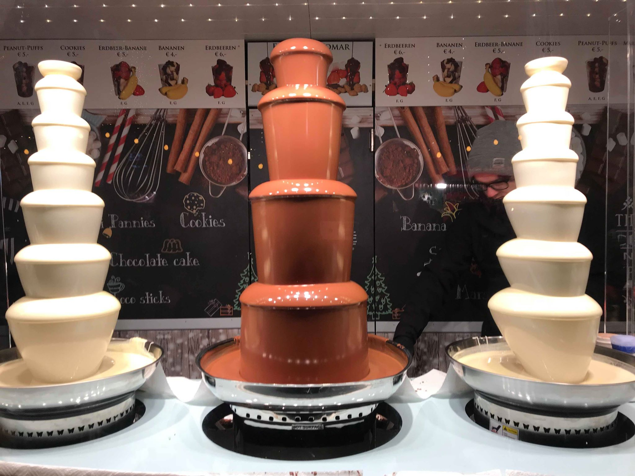 Chocolate Fountain @ Vienna Christmas Market