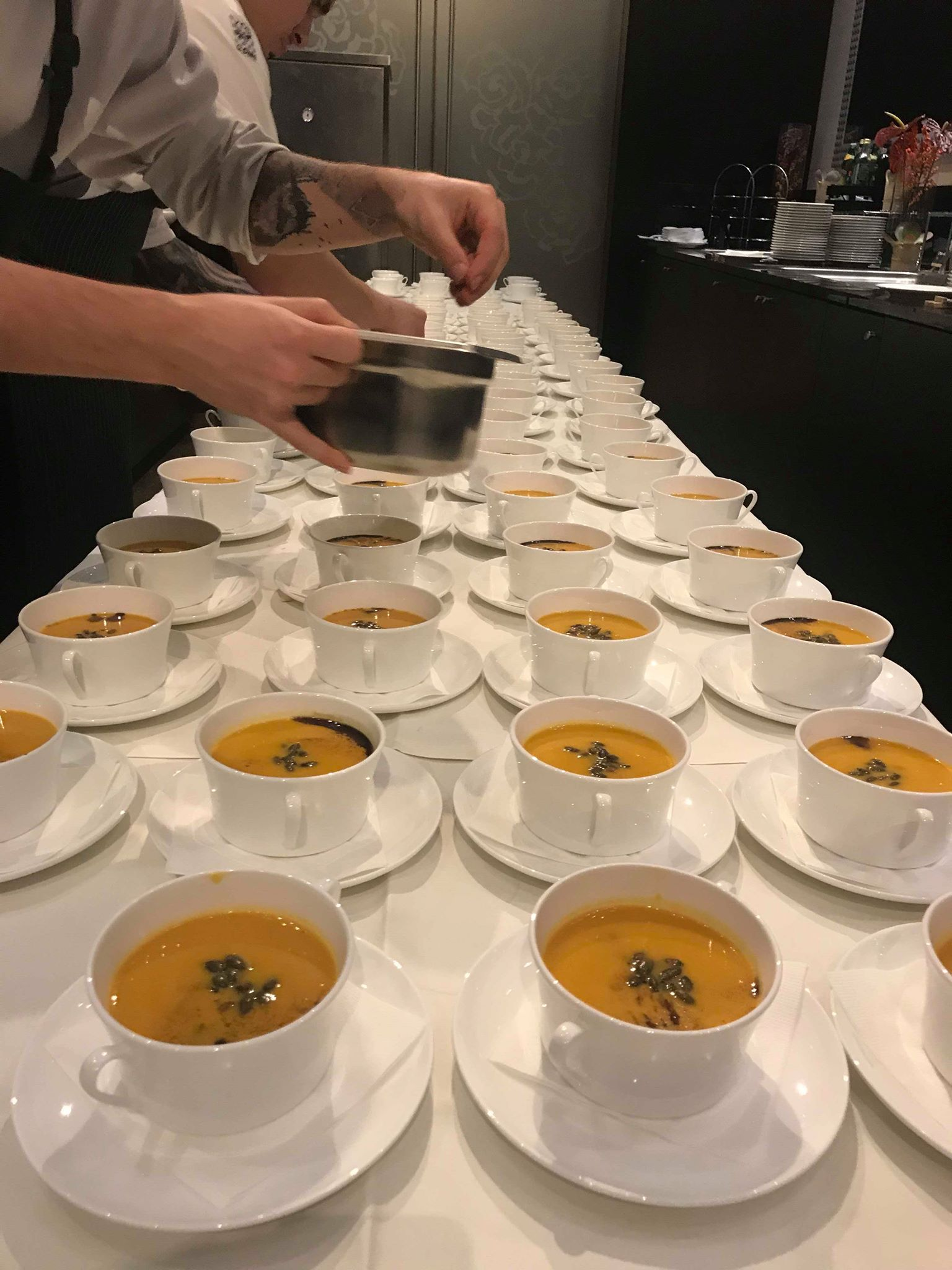 Pumpkin soup with pumpkin oil & seeds (Click for link to recipe)