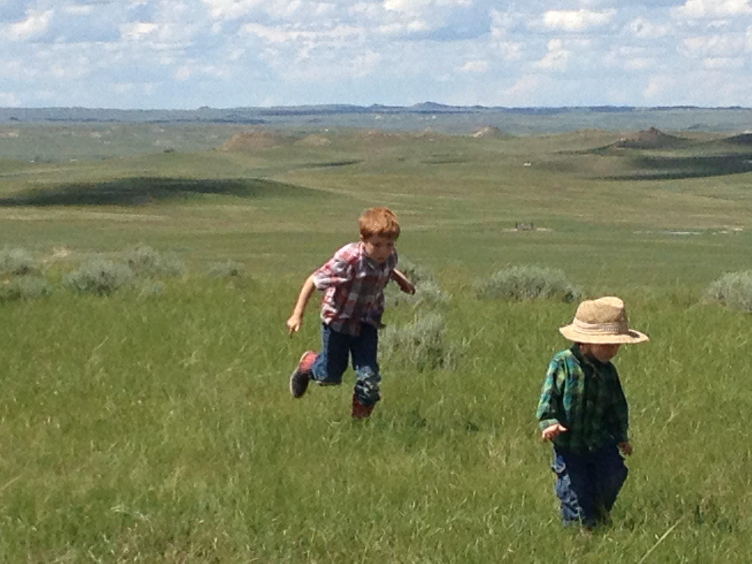 The Dalton boys, Antelope Springs Ranch, Montana