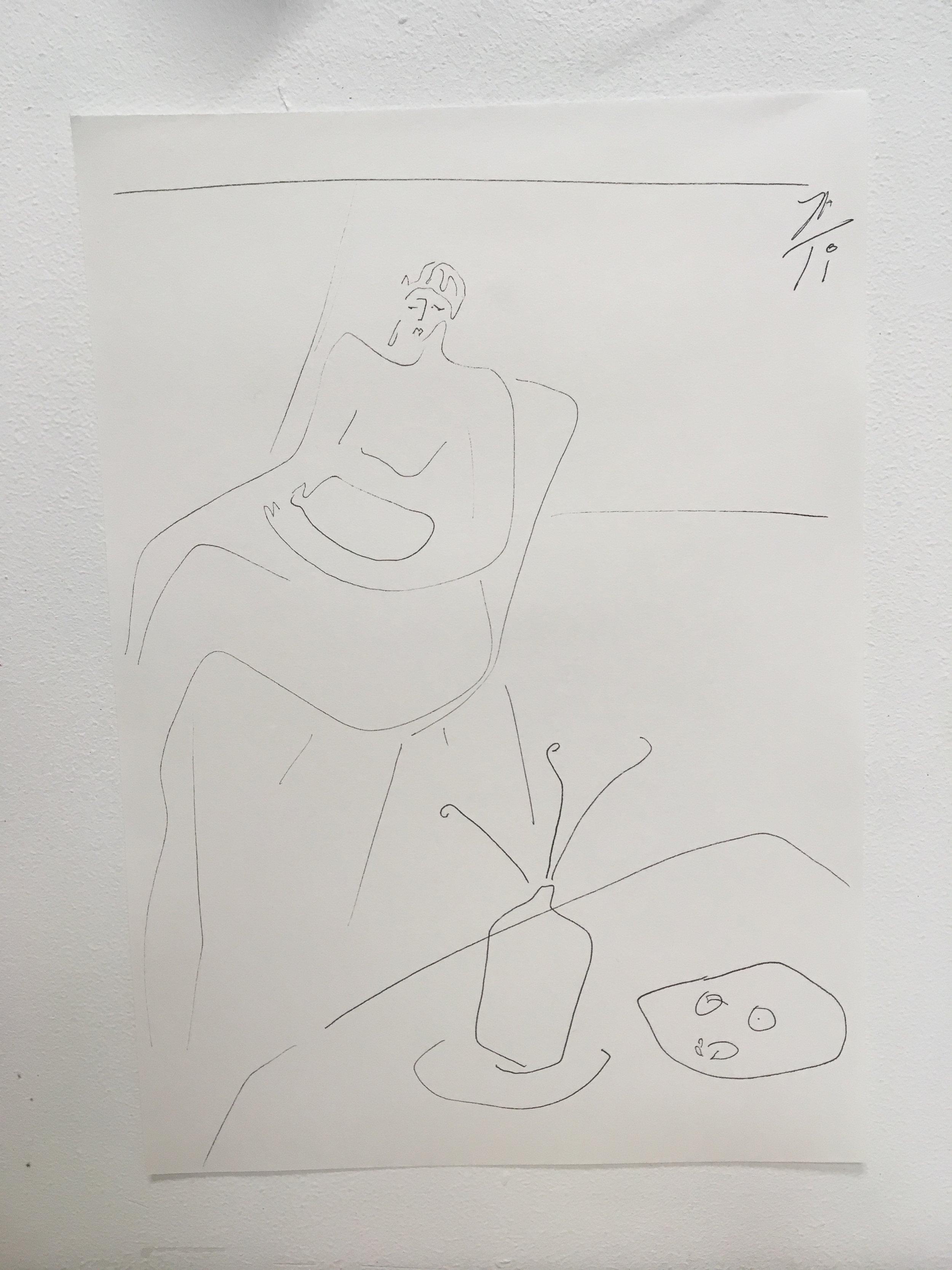 Weary  21.0 × 29.7cm Pen On Paper
