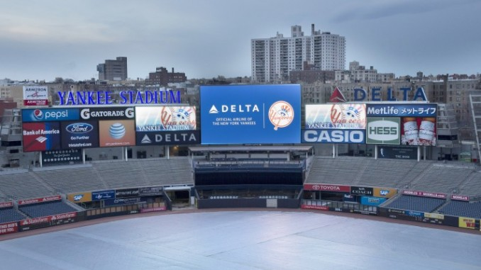 Delta Renews Partnership With New York Yankees, Unveils Brand New Sign - Written by Malick Mercier.Photo provided by Delta