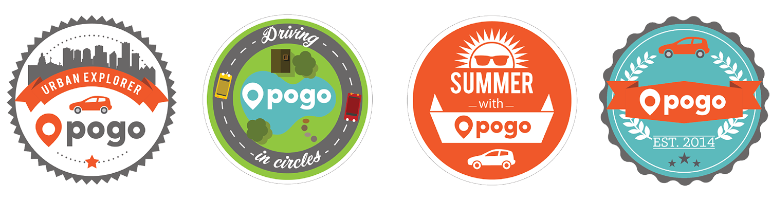 Stickers handed out at various Pogo tradeshow and community outreach events