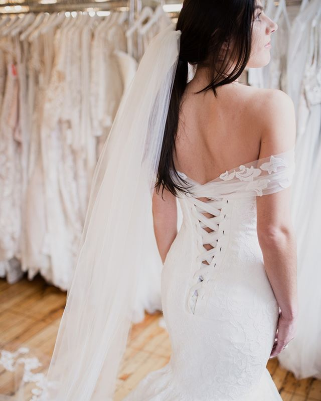 Because that BACK! 👏 ⠀⠀⠀⠀⠀⠀⠀⠀⠀ •⠀⠀⠀⠀⠀⠀⠀⠀⠀ •⠀⠀⠀⠀⠀⠀⠀⠀⠀ •⠀⠀⠀⠀⠀⠀⠀⠀⠀ Meet Brodie from @sotteroandmidgley by @maggiesottero. Lace mermaid with off-the-shoulder corset strap!⠀⠀⠀⠀⠀⠀⠀⠀⠀ •⠀⠀⠀⠀⠀⠀⠀⠀⠀ 📷 @Hannah.rachael.lifestyle⠀⠀⠀⠀⠀⠀⠀⠀⠀ •⠀⠀⠀⠀⠀⠀⠀⠀⠀ #connecticutbride #bridetobe #bridalcollections #maggiesottero #weddingday #newarrivals #dreamdress #brides #justmarried #newengland #weddinginspo #lace #loveislove #engaged #misstomrs #isaidyes #theknot #weddinginspo