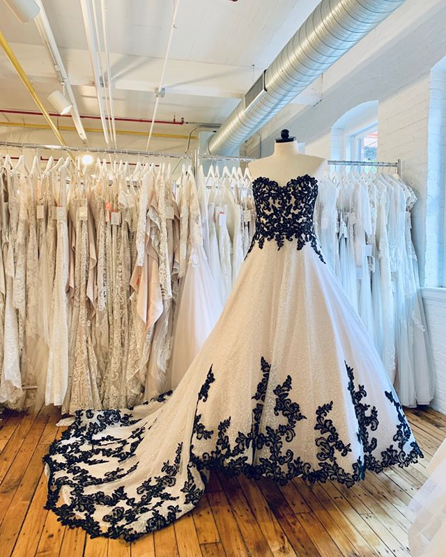 I mean - seriously! 🖤 Tristyn is a perfect (PERFECT!) drop-waist ball gown. She fits like a dream. BLACK lace for the bold Bride, Ivory for the classic Bride, and matching veils for everyone!! ⠀⠀⠀⠀⠀⠀⠀⠀⠀ •⠀⠀⠀⠀⠀⠀⠀⠀⠀ Snag an appointment to come try her on!⠀⠀⠀⠀⠀⠀⠀⠀⠀ Info@theweddingembassy.com⠀⠀⠀⠀⠀⠀⠀⠀⠀ •⠀⠀⠀⠀⠀⠀⠀⠀⠀ #blackweddingdress #destinationwedding #loveintentionally #indiewedding #adventurouswedding #offbeatbride #elopement #weddingphotographer #weddinginspo #instawedding #weddinginspiration #connecticutbride #bridetobe #bridalcollections #maggiesottero #weddingday #newarrivals #dreamdress #brides #justmarried #weddinginspo #lace #loveislove #engaged #misstomrs #isaidyes #theknot #weddinginspo