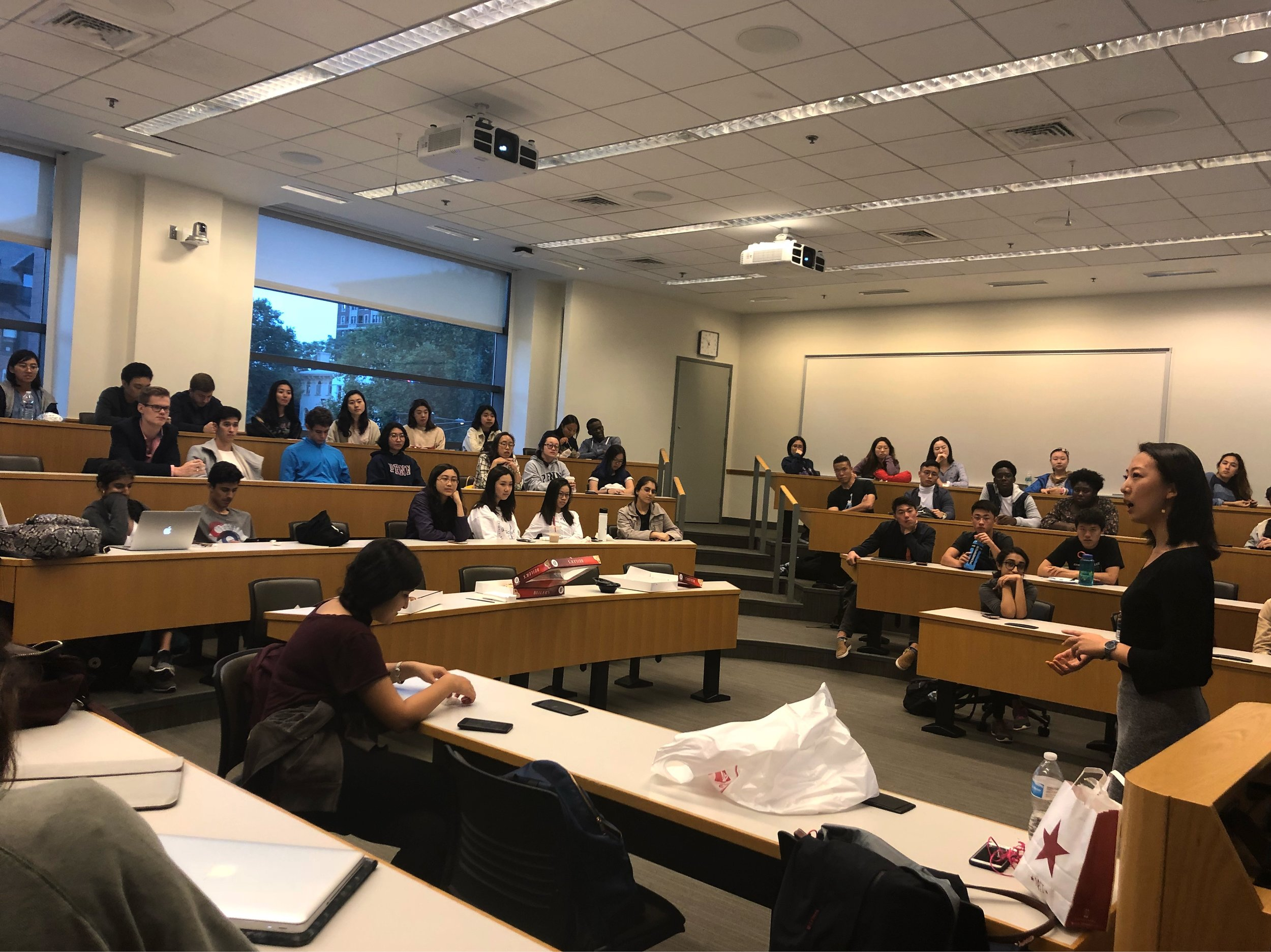 2018 Fall GBM - AIS hosted its Fall GBM and provided Donuts from Beiler's. The room was packed with students who were interested to join AIS.