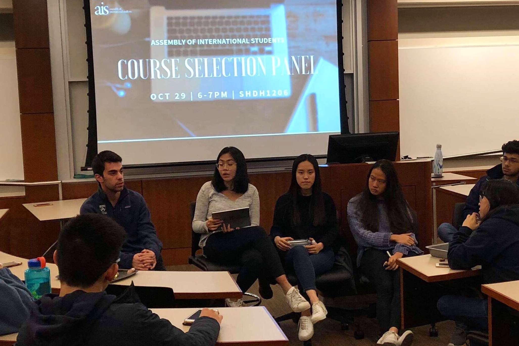 Course Selection Panel - AIS hosted its course selection panel that featured experienced upperclassmen from all the schools here at Penn to speak about registration, courses and other essential tips and tricks to create a perfect schedule.