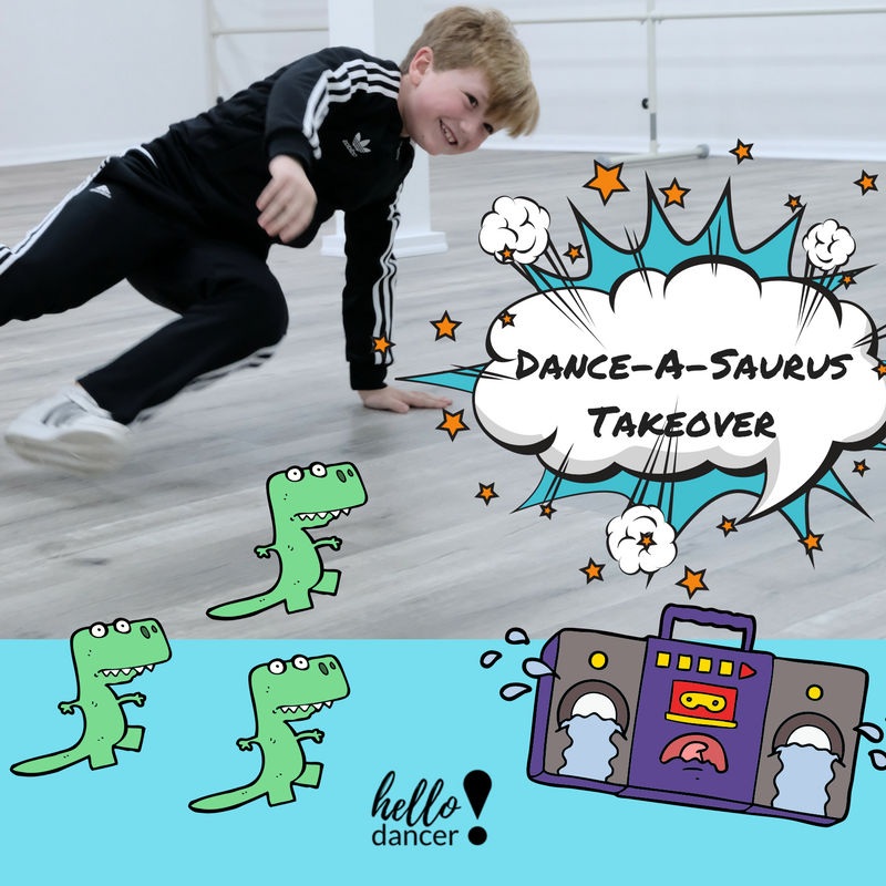 Dance-a-Saurus Takeover - July 23rd – 27th (Combo Camp with Super Power Kids Takeover)Ages: 3-8 - 9:00-11:30am ($70 Early Bird/ $85 Regular) +$15 Act. Feeor all day 9-3pm ($130 Early Bird/$165 Regular)+$25 Act.FeeIt's time to walk amongst the Dinosaurs and be larger than life!
