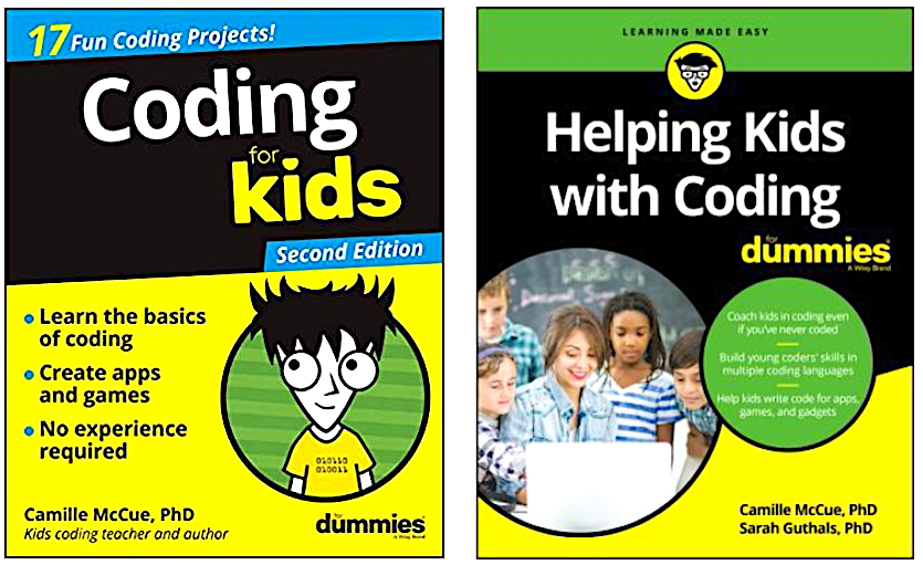 Dummies books support learning to code at home.