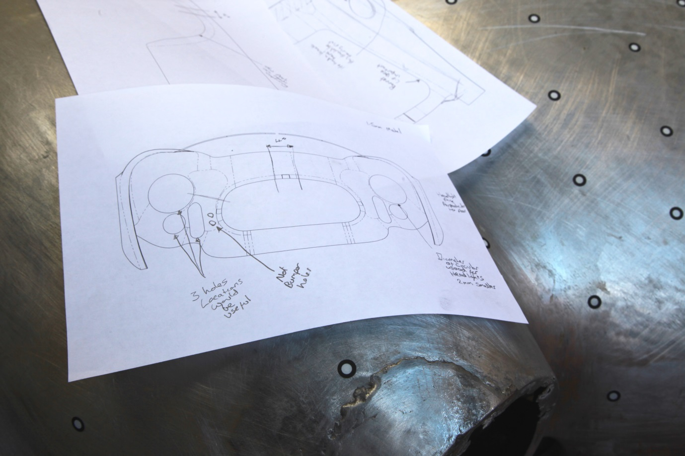 Modifications to CAD model can be made by using good old fashioned pencil and paper. (Pencil not included.)