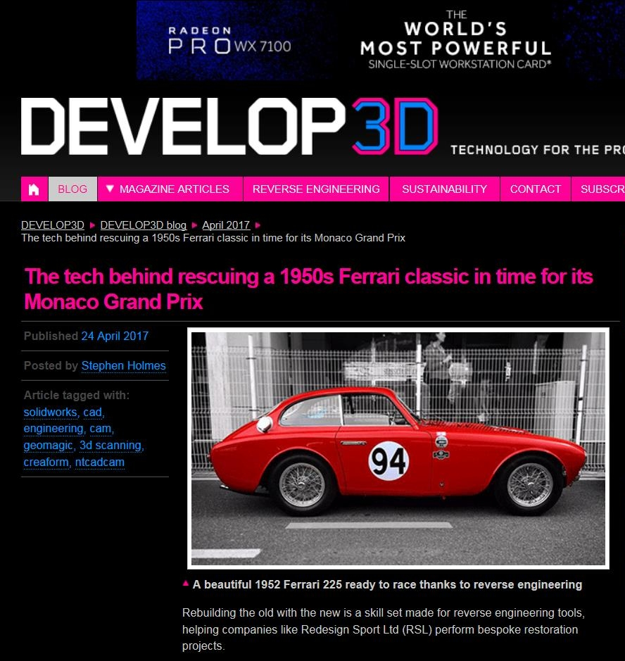 Click to Open D3D Magazine article