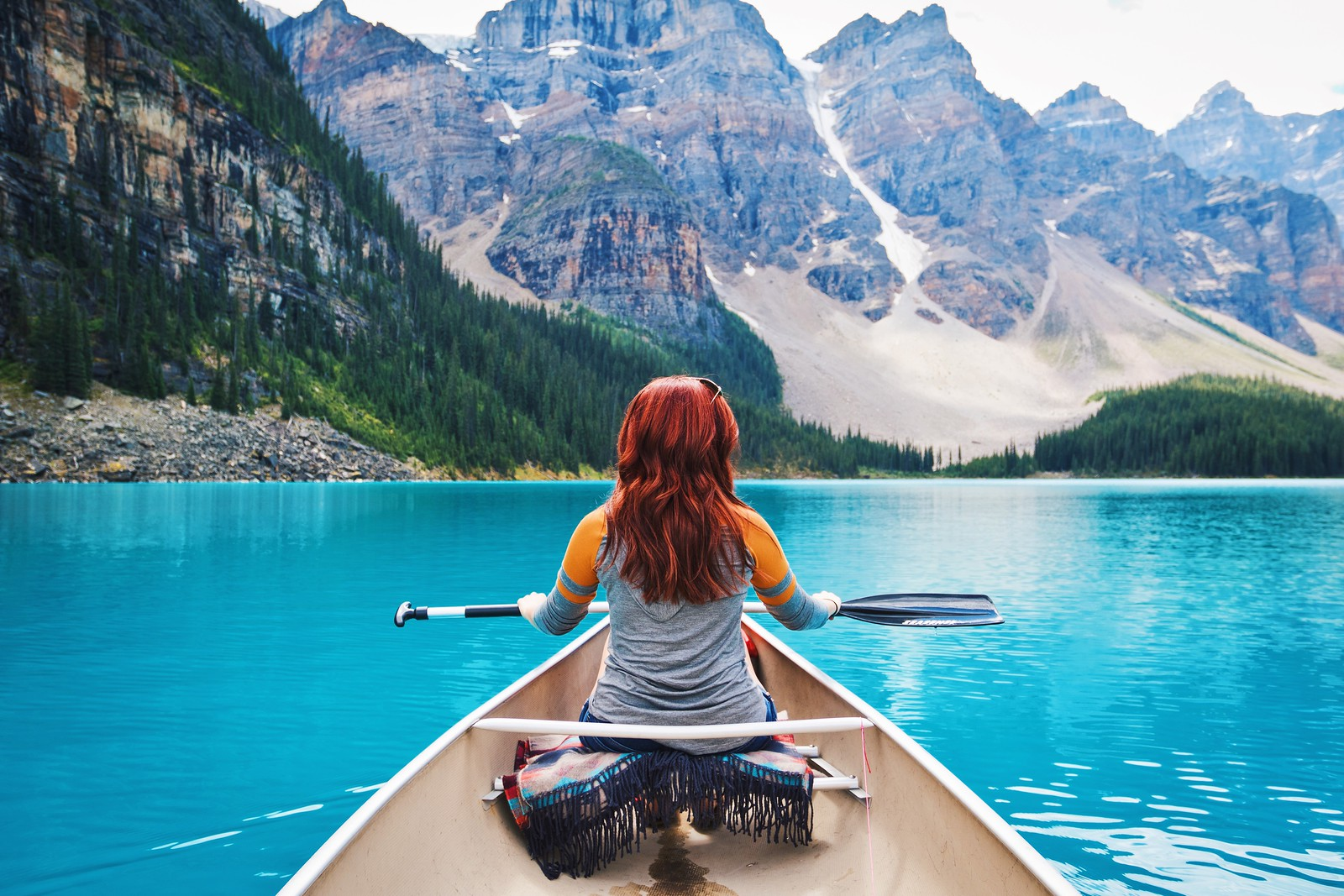 Megan Uncapher - Canoe Moraine Lake - Banff National Park