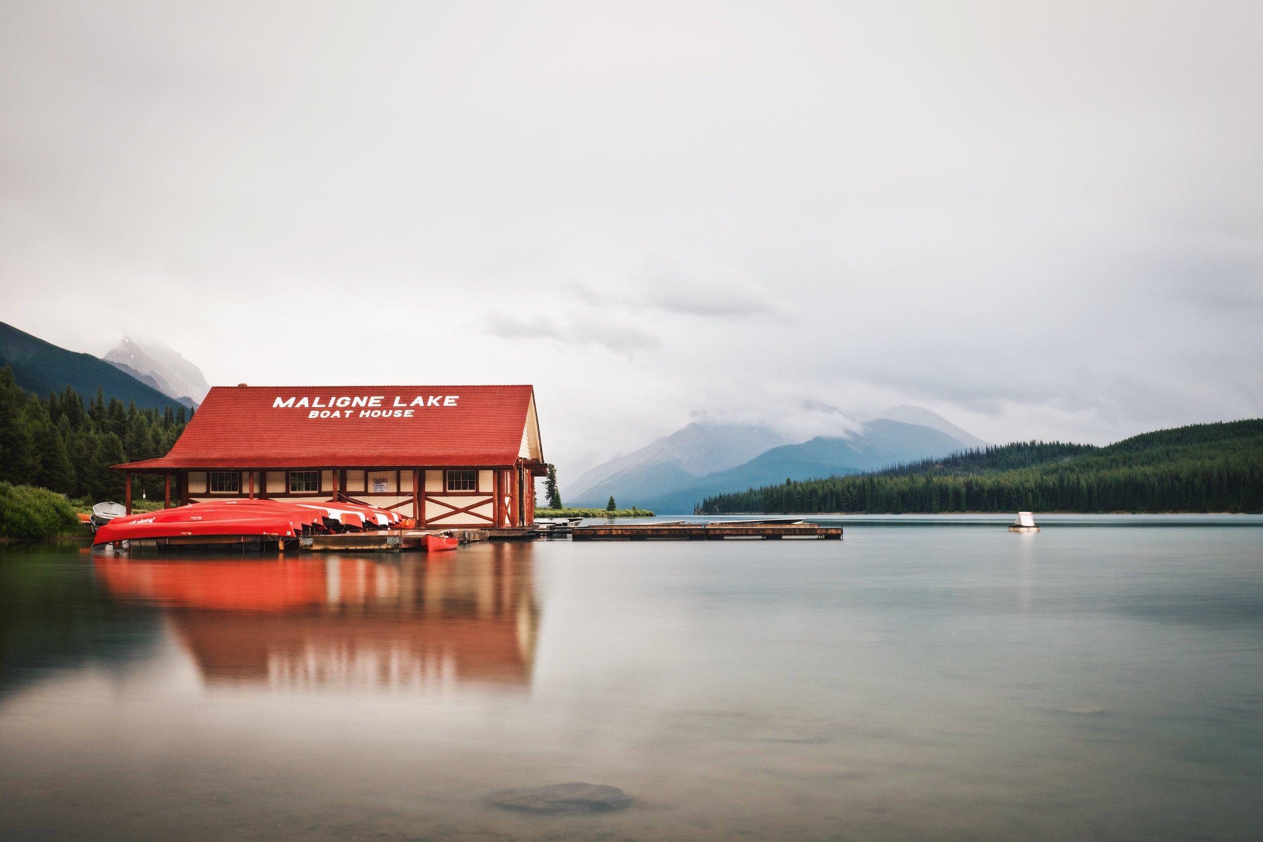 Maligne Lake Boat Dock - Jasper National Park
