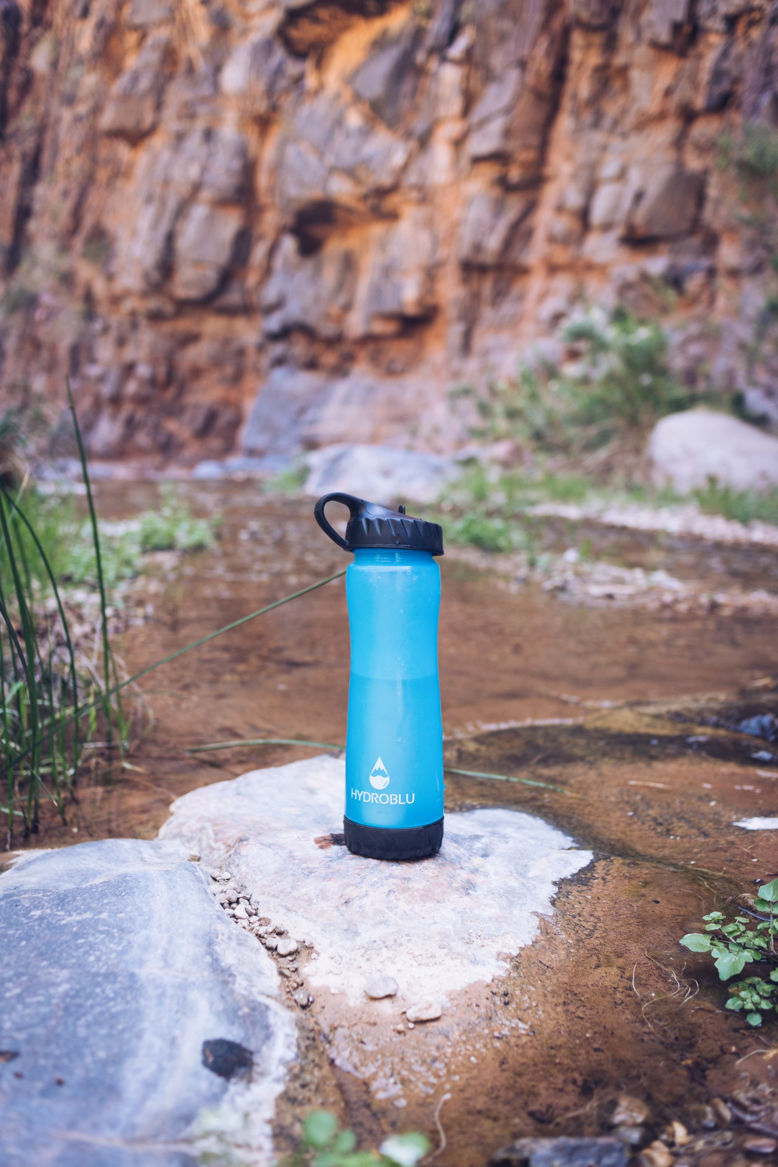 HydroBlu bottle - a great tool to have on a hike like this