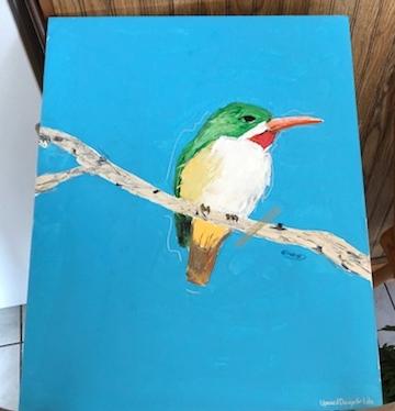 Custom artwork donated by local artist, Edreys Wajed