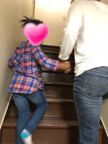 Dionne escorting a little princess to see her very own bedroom.